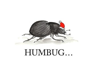 Humbug Greeting Card (Package of 5)