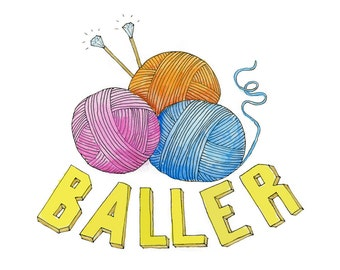 Baller Greeting Card (Package of 5)