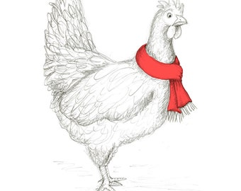Holiday Hen Greeting Card (Package of 5)