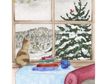 Winter Window Greeting Card (Package of 5)