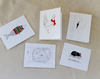 Winter Animals Greeting Card Assortment (Package of 5)