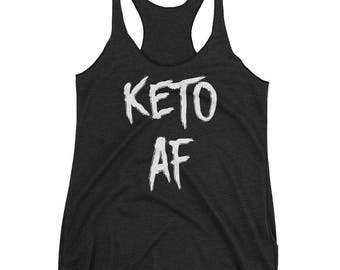 Keto AF, Crossfit Tank Top, Workout Tank Top, Funny Gym Tank Top, Running Tank, Fitness Gear, Fitness Apparel
