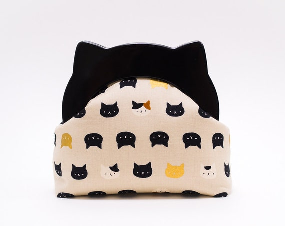 Cat Lover Gift, Cat Clutch Purse, Small Clutch Bag, Resin Frame Clutch Bag, Neko Clutch Wallet, Kawaii Kitties, Animal Purse, Unique Gifts
