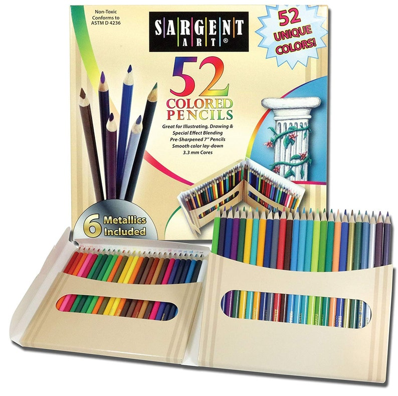 Sargent Art Premium Coloring Pencils Pack of 50 Assorted Colors Art Supplies