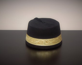 9ebeb30cd38 Velvet Felt Fez Hat Shriner Turkish Casablanca Moroccan Cap Costume  Accessory Mini Doctor Who Fez Hat