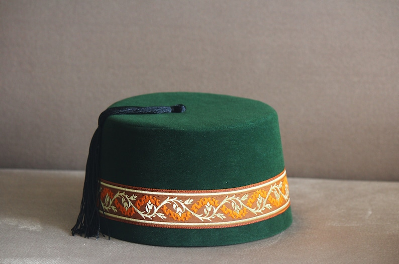 Velvet Felt Fez Hat Shriner Turkish Casablanca Moroccan Cap  c96864f01679