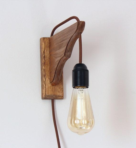 Favoriete Houten lamp van de muur minimalistische muur Schans edison   Etsy @GW32