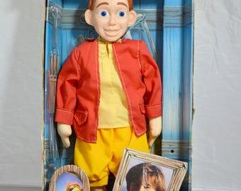 Vintage Talking Pinocchio Doll with Jonathan Taylor Thomas Poster