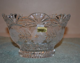 Vintage 24% Lead Crystal Imperial Bowl Made in Poland