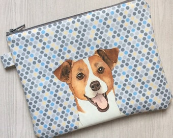 91427c58ab27 Jack russell pouch | Etsy