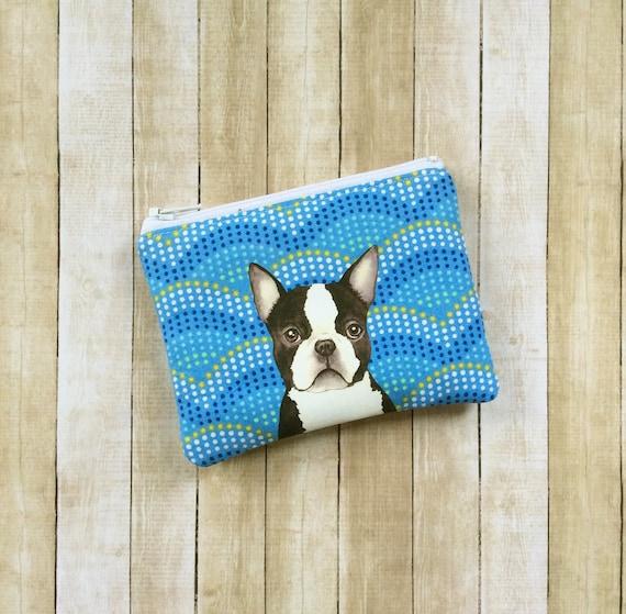 Boston Terrier Pouch Boston Terrier Purse change purse Coin purse Zipper Pouch Boston Terrier Wallet Boston Terrier Lover Gifts
