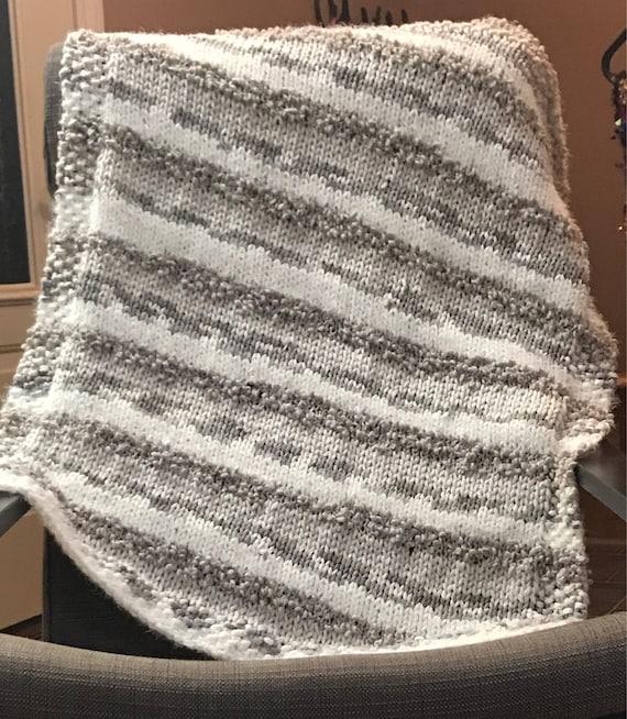Chunky Knit Blanket Bernat Mix Home Yarn Gender Neutral Etsy Gorgeous Bernat Home Bundle Yarn Patterns