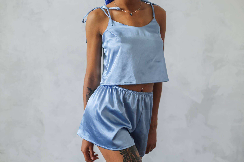 Women s satin pajama set Satin pajama shorts Satin  8c21db43c