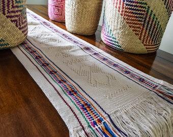 MTO, Rainbow, Handwoven, Hand Loomed, Cotton, Neutral, Wedding, Boho