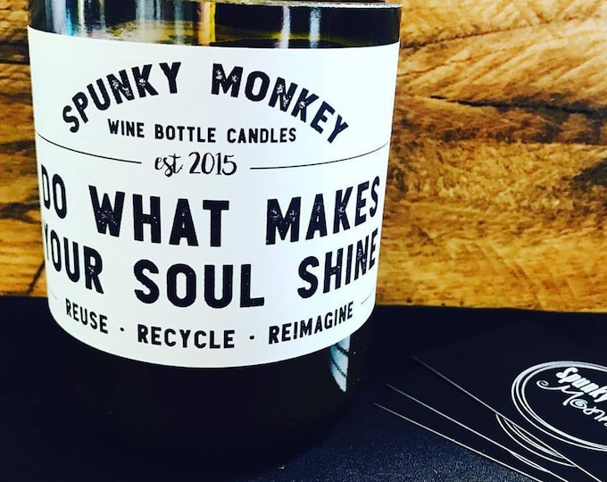 SOUL SHINE Wine Bottle Candle