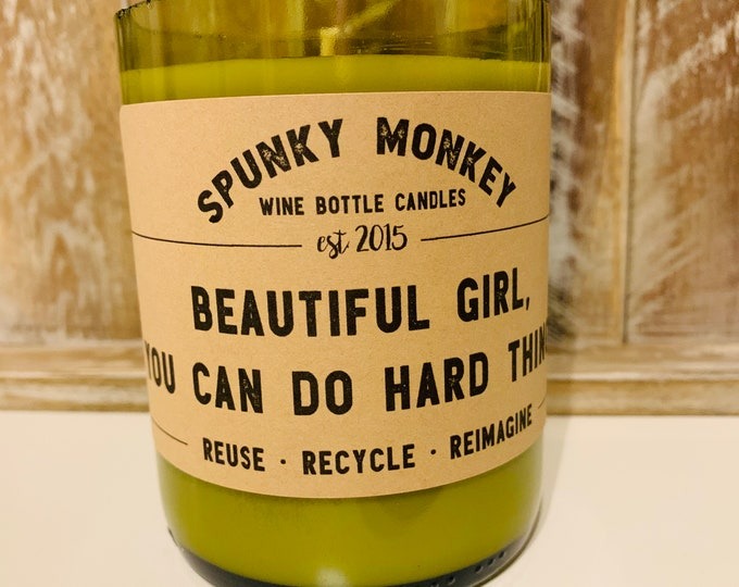 BEAUTIFUL GIRL Wine Bottle Candle