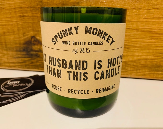 HOTTER HUSBAND Wine Bottle Candle
