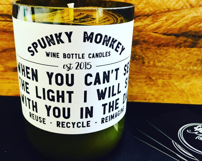 BRIGHT SIDE Wine Bottle Candle