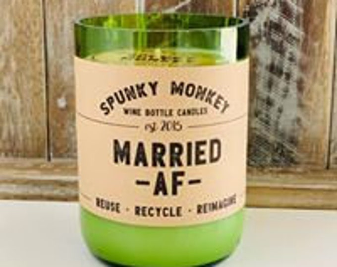 MARRIED AF Wine Bottle Candle