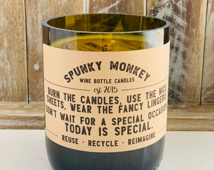 TODAY IS SPECIAL Wine Bottle Candle