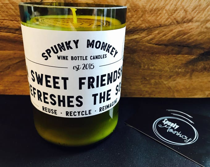 FRIENDSHIP Wine Bottle Candle