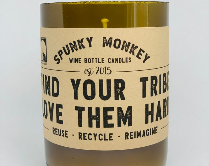TRIBE Wine Bottle Candle