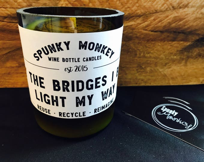BRIDGES Wine Bottle Candle