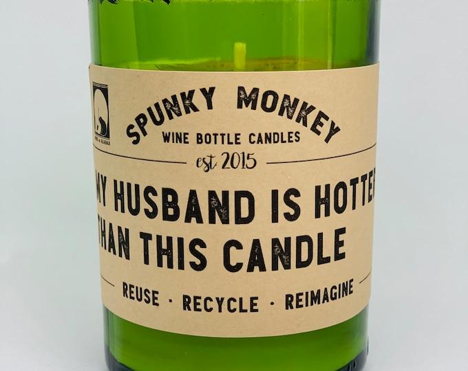 HOTTER HUSBAND Wine Bottle Candle