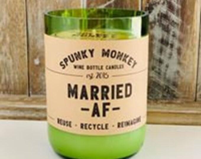 MARRIED AF Wine Bottle Candle