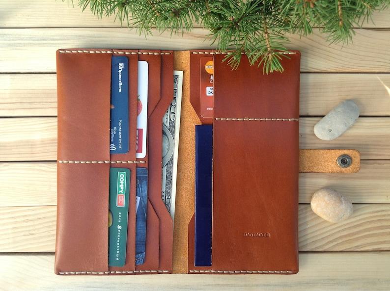 Woman wallet Slim wallet Leather Clutch bag Clutch purse image 0