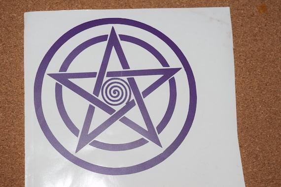 Wall Sticker custom Vinyl indoor decal window laptop Pentacle Pentagram Spirit