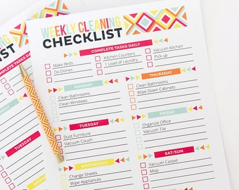 Editable Cleaning Checklist and Schedule