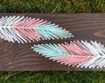 Feather String Art