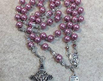 7 decades rosary, seven sorrows - Catholic rosary - Handmade Rosary