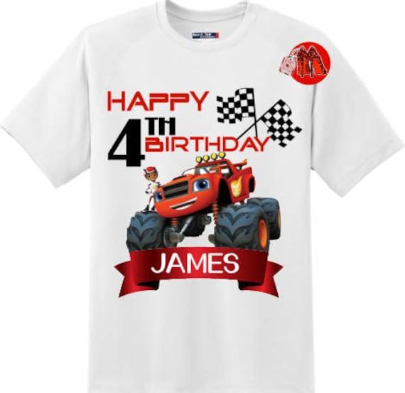 Blaze et le monstre Machine anniversaire chemise T-shirt Design 2