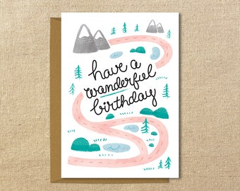Have a Wanderful Birthday | A2 Illustrated Birthday Card