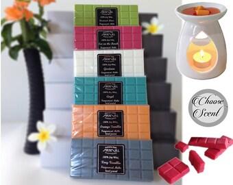 Highly Scented 100% SOY wax MELT block 100hr burn BEST natural melts for oil burners shop online fragranced candle tarts for warmers melters