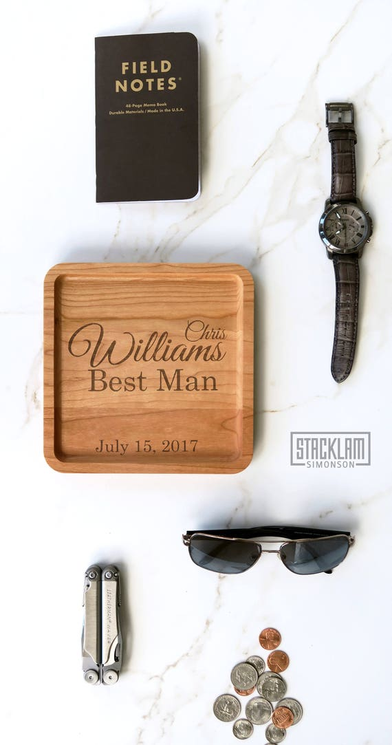 Best Man Gift Idea Personalized Best Man Valet Tray Wedding Gift Best Man Gift Box Idea Best Man Proposal Idea Wedding Favor Idea