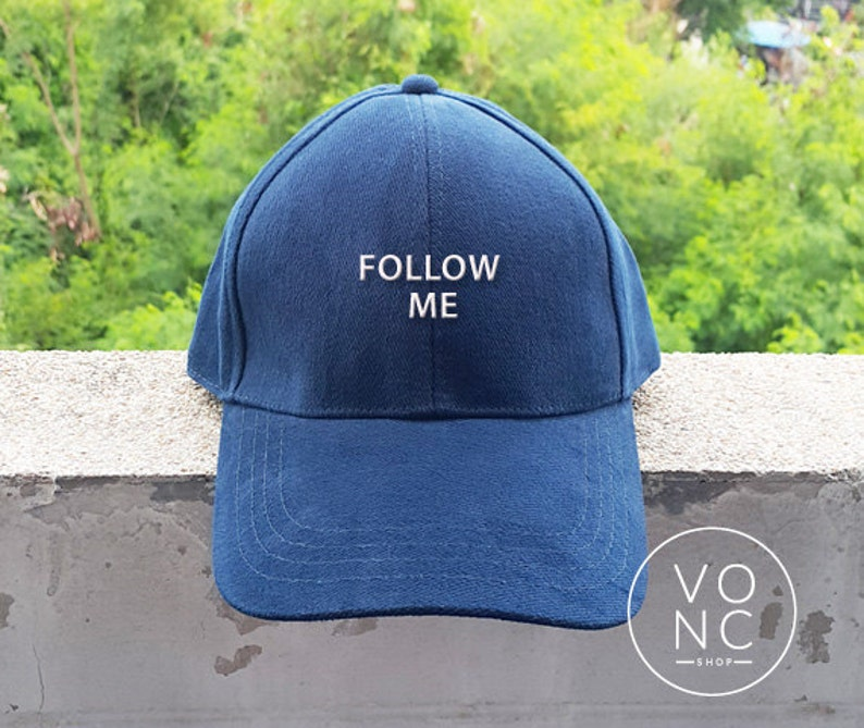 FOLLOW ME Baseball Hat Embroidery Hat Fashion Hipster Cap Cotton Cap  Pinterest Instagram Tumblr