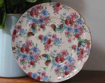 "Adorable Johnson Brothers Farmhouse Chic Chicken Chintz  Plate 8.25""   Made in England"