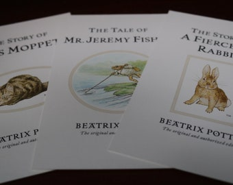 Three Peter Rabbit Postcards. Beatrix Potter.  Lovely to craft with or to frame