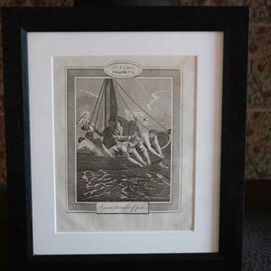 In good condition Professionally and sympathetically framed The finding of Moses SALE Original 1860 Kronheim Biblical Art Print