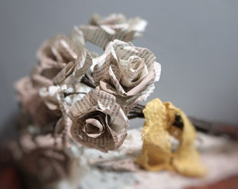 Jane Austen Paper roses  Made to order in a variety of colours