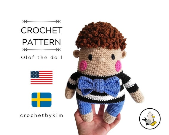 AMIGURUMI DOLL PATTERN • Olof the doll • crochet pattern • Instant Download • interior doll pattern • crochetbykim