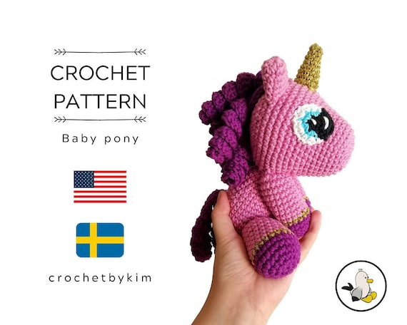 CROCHET PATTERN - amigurumi unicorn - pony - unicorn doll, unicorn toy - handmade - diy - unicorn crochet pattern - crochetbykim