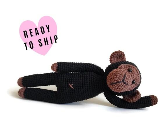 Handmade crochet monkey • amigurumi monkey • plushie • Safari zoo animal • african jungle animal • crochetbykim • Ready to ship