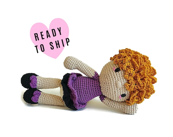 Handmade crochet doll with blonde hair • amigurumi doll • handmade doll • gift for girl • interior doll • dress and shoes • READY TO SHIP