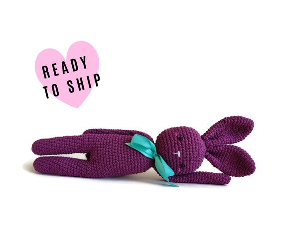 Large crochet bunny - stuffed animal - large bunny - pink bunny - easter bunny - handmade - plush - cotton - amigurumi - rabbit doll