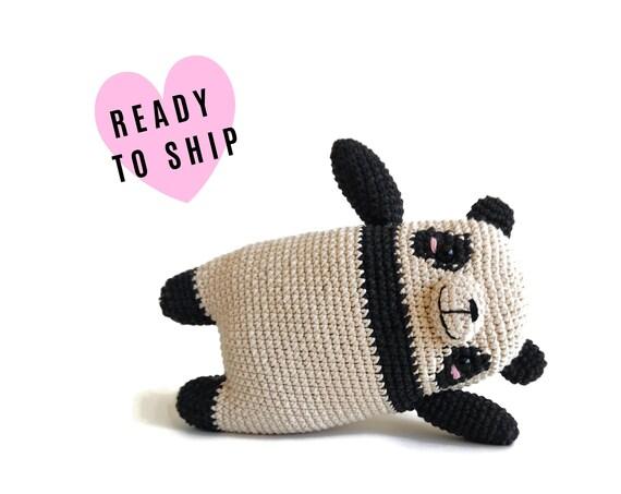 Handmade crochet amigurumi panda • Lola Panda • pica pau • panda plushie • panda bear • stuffed panda • toy panda • READY TO SHIP