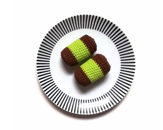 Crochet amigurumi Swedish pastry vacuum cleaner - Crochet food - Educational toys - Pretend food - Kids party - playfood - Crochet sweets